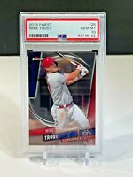 MIKE TROUT 2019 Topps Finest #25 PSA 10 GEM MINT Angels Baseball Card