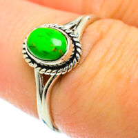 Green Copper Turquoise 925 Sterling Silver Ring Size 7.5 Ana Co Jewelry R51467F