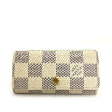 Authen Louis Vuitton Damier Azur Multicles 4 Ring Key Case /40979