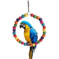 Rope Ring Bird Parrot Toy Swing For African Greys Macaws Cockatoos Entertainment
