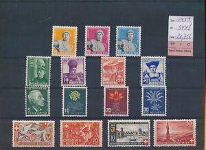 LO39419 Switzerland 1939 pro juventute fine lot MNH cv 20,75 EUR