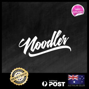 Noodler Cat Fish 200x90mm Fishing Sticker Decal Vinyl Window Car Ute Van 4x4