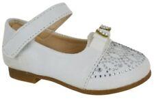 Scarpe bianchi senza marca per bambine dai 2 ai 16 anni chiusura a strappo