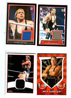 WWE Lot of 4 Jack Swagger Event Used Shirt Topps Relic Cards