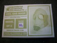 Military Surplus Civil Defense Gas Mask GP-5 Size XL W/ Filters Bag  ADULT XL
