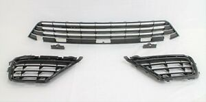 replacement for 2015 - 2017 Touareg Front Bumper center lower outer Grille 3 pc