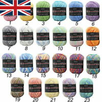 Lot 23 Colors 50g Mixed Knitting Crochet Milk Soft Baby Cotton Wool Yarn Balls