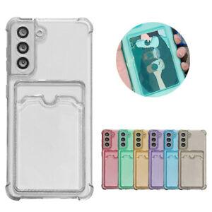 For Samsung Galaxy A32 A42 A52 A72 5G S21 S20 FE S10 Wallet Card Solt Case Cover