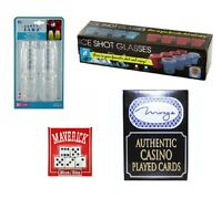 Drinking Games/ Shot Glasses Set. 4 - Ice Shot Glass Molds - 4 - Mason Jar Shot