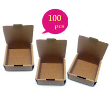 100x Kraft Paper Gift Boxes Party Jewelry Wedding Christmas Soap Wrap Packaging