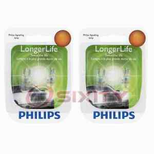 2 pc Philips License Plate Light Bulbs for Ford Aerostar Bronco Bronco II C ry