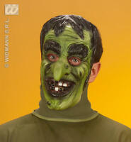 Scary Green Witches Face Mask Witch Halloween Fancy Dress