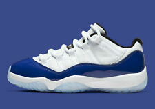 Nike Air Jordan 11 Retro Low size W9.5 M8. White Concord. AH7860-100. purple