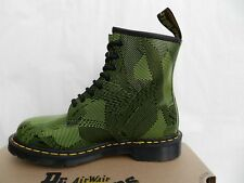 Dr Martens 1460 Geostripe Chaussures 39 Femme Homme Bottes Bottines Neon UK6 New