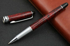 Writing new Dark Red Lacquered Silver Trim Rollerball Pen