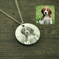 Your Pet Photo Necklace Custom Dog Photo pendant Engraved Picture Necklace