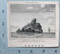 1789 Fecha Antigüedad Estampado DE MATEO Roca Con Latitude Longitud