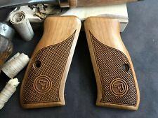 CZ 75 Compact Turkish Walnut Wood Grips. Handmade - Checkered - AAA Quality