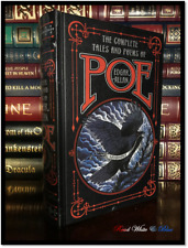 Edgar Allan Poe Complete Tales & Poems Sealed Leather Bound Raven Gift Hardback