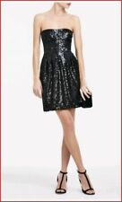 BCBG MAXAZRIA S 4 6 CAROLE BLACK SEQUIN Formal cocktail STRAPLESS  DRESS $258