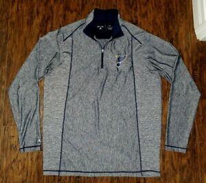 Mens Antigua 1/4 Zip St. Louis Blues Hockey Long Slv Shirt Extra Large Tall XLT