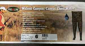 PRO LINE CAMO CANVAS CHEST WADER #710 WALNUT CANYON NEW MEN'S SIZE 6   75% off !
