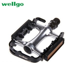 """WELLGO Bicycle Cycling Pedals Alloy Sealed Bearing MTB BMX Road Bike DU 9/16"""""""