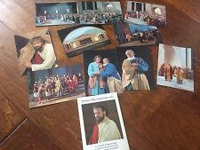 german postcards 1970,german writing postcards from a christian play Lot Of 11