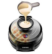Belgian Waffle Maker Non Stick No Mess Perfect Pour Volcano Iron Chefman RJ04