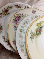 4 - Vintage Mismatched China Dessert Cake Bread Plates mix multi color # 175