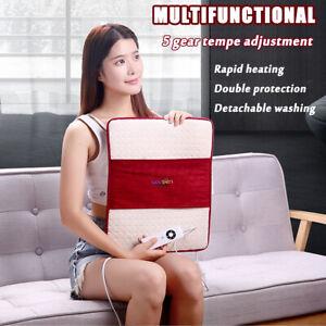 AU Electric Heated Pad Heat Mat Feet Cushion Back 5 Gear Pain Relief Body Seat