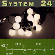 System 24 LED Party-Lichterkette Start inkl. Trafo warmweiß 492-50 außen
