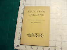 vintage travel item: ENJOYING ENGLAND a book about the enchanted land 1931 w MAP