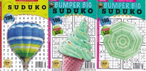 SUDUKO SUDOKU PUZZLES 3 BOOK SET - LARGE PRINT - 300 PUZZLES