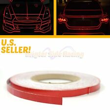 FOR VW CARS JDM STYLE RED SELF-ADHESIVE REFLECTIVE TAPE 1CMX45M LONG STRIP ROLL