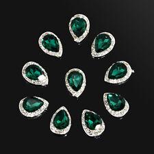 10pcs 3D Nail Art Rhinestone Crystal Glitter Alloy Nail Tips Charm Decoration