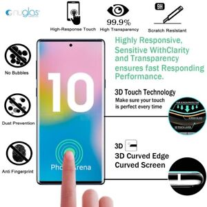 NUGLAS Tempered Glass Screen Protector Samsung Galaxy Note S21 S20 Ultra S10 9 +