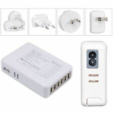3A UK Mains Wall Adaptor Charger 6 USB Ports for Phones Tablets UK/EU/US/AU Plug