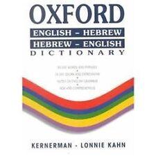 Oxford Dictionary : English-Hebrew Hebrew-English: By Levy, Ya'Acov (Edt),