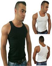 Herren Muskelshirt Shirt Tank Top Achselshirt Unterhemd Feinripp Doppelripp Neu