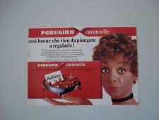 advertising Pubblicità 1971 CARAMELLE PERUGINA ROSSANA