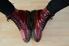 VINTAGE DR MARTENS DOC MARTENS MADE in ENGLAND 8 œillets Cherry Red UK 2 EUR 35