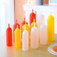 8-24 OZ  Clear Squeeze Sauce Dispenser Bottle Ketchup Mustard Dressing Oil BBQ