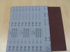 Aluminium Oxide Starcke Sandpaper - Flexible Cloth  P40 - 1 pack of 10 sheets
