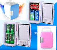 Portable Mini Fridge Cooler & Warmer Auto Car Boat Home Office AC & DC 4L Blue