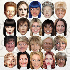 20 x CELEBRITY FACE PARTY MASK FUN DRESS HEN STAG NIGHT BIRTHDAY MASKS #MP3