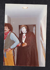 Vintage Photograph Men in Halloween Costumes - Dracula and Cowboy