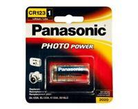Panasonic 3V CR-123 Lithium Photo Battery for Camera 1550 mAh Long Life Durable