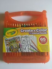 Crayola Create & Color with Colored Pencils,  65 pieces