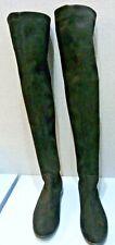 VERA GOMMA/ELIA B Black Stretch Fabric Knee High Women's Boots (EU39/UK 6)